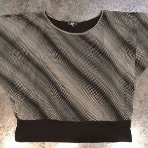 Sheer Blouse with lining and black band